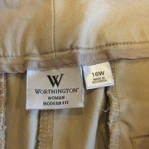 Tan khaki crop pants